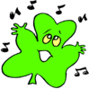 saint patricks day Shamrock Singing clip art