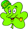 saint patricks day Shamrock with Pipe clip art