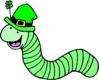 saint patricks day St Patrick Worm clip art