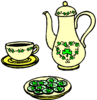 saint patricks day Tea Service clip art