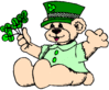 saint patricks day Teddy Bear Shamrocks 1 clip art