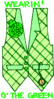 saint patricks day Wearin o the Green clip art