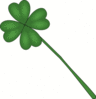 saint patricks day clover long stem clip art