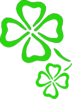 saint patricks day clover outlines clip art