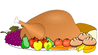 thanks giving thanksgiving spread 01 clip art
