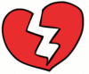 valentine broken heart clip art