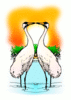 valentine two Love Whooping Cranes clip art