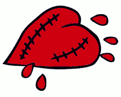 valentine wounded heart