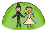 wedding Bride Groom 3 clip art