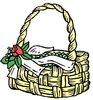 wedding basket with flower clip art