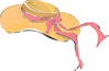wedding bonnet with ribbon clip art