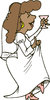 wedding bride dancing clip art