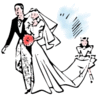 wedding bride groom 1 clip art