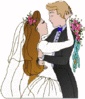 wedding bride groom dance clip art