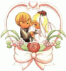 wedding bride groom tykes 2 clip art
