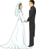 wedding bride groom vows clip art