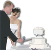 wedding cut the wedding cake page corner clip art