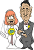 wedding dad giving away bride 2 clip art