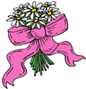 wedding daisies w ribbon clip art