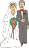 wedding father giving away bride clip art