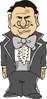 wedding grinning groom clip art