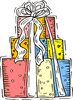 wedding stack of gifts clip art