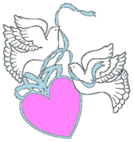 wedding Pink Heart Dove