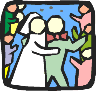 wedding couple rice icon