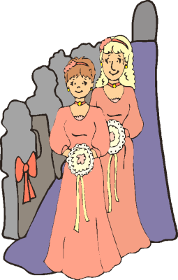 wedding maids of honour