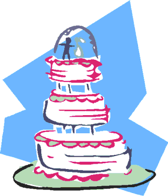 wedding wedding cake w pink and blue