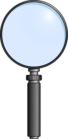 magnifying glass sharp