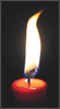 Candle burning clip art