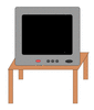 TV on end table clip art