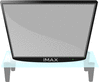 big tv on glass table clip art