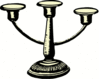 candelholder antique clip art