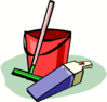 cleaning tools clip art