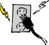 electrical outlet warning clip art