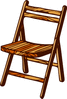 folding chair clip art