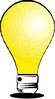 light bulb glowing clip art