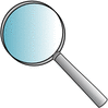 magnifying glass 01 clip art