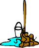 mop and bucket small clip art