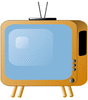 old style tv set clip art