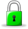 padlock green w shadow clip art