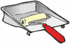 paint roller and pan clip art