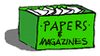 papers and magazines clip art