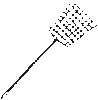 ratty old fly swatter clip art