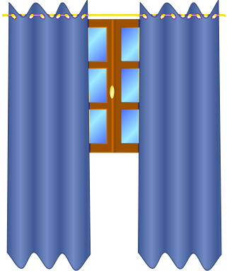window with draperies