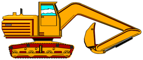 Vehicle equipment construction backhoe