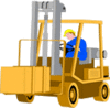 Vehicle equipment construction Forklift 01 clip art