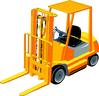 Vehicle equipment construction forklift02 clip art
